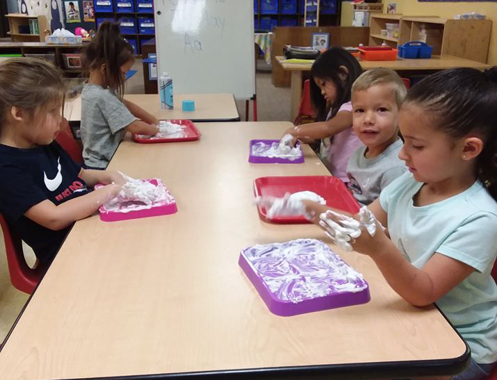 children doing art in class at a Preschool & Daycare Serving San Antonio, TX