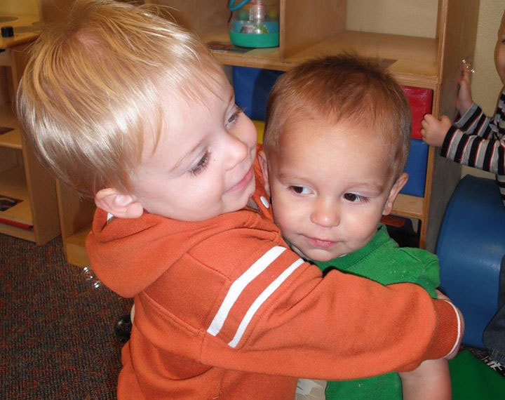 cute preschool boys hugging at a Preschool & Daycare Serving San Antonio, TX