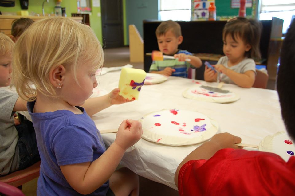 toddlers doing art at a Preschool & Daycare Serving San Antonio, TX